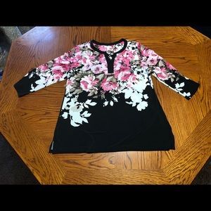 Charter Club Floral Tunic Top